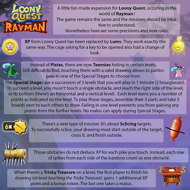 Loony Quest - Rayman World - English Rules
